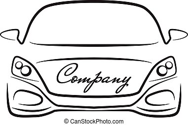 car sihlouette vehicle auto dealer company logo icon