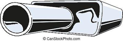 car silencer icon. vector illustration
