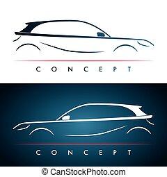 Car silhouette concept.