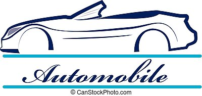 Car silhouette vehicle for race sports logo design vector
