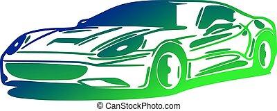 Car, silhouette