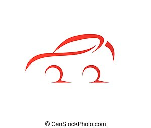 Car silhouette logo Vector template icons app