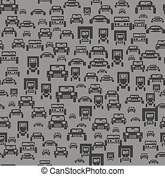 Car Silhouette Seamless Pattern
