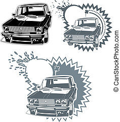 Car silhouettes set - Cars set. Available EPS-8 vector...