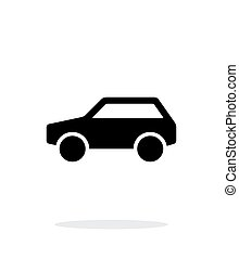 Car simple icon on white background.