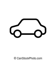 Car simple linear icon