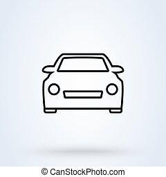 Car Simple vector modern icon. outline design illustration.
