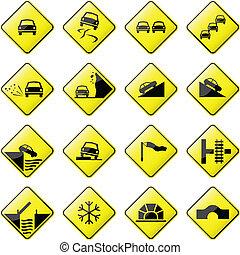car, sinal estrada