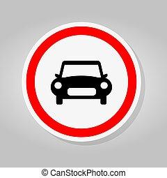 car, sinal, estrada, maneira, ilustração, tráfego, isole, vetorial, fundo, branca