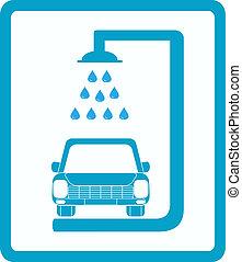 car, sinal, lavagem