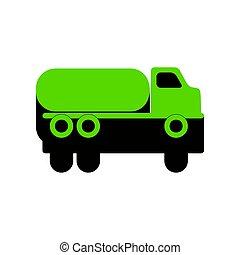 car, sinal., verde, vector., pretas, 3d, transportes, lado, ícone