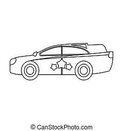 Car, single icon in flat style. Car, vector symbol stock illustration web.