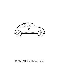 Car sketch icon.