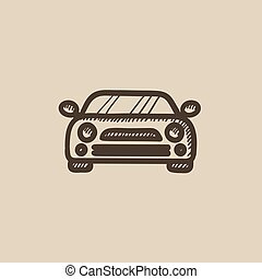 Car sketch icon.