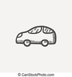 Car sketch icon