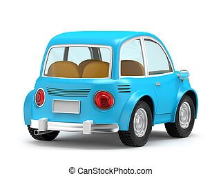 car small cartoon back