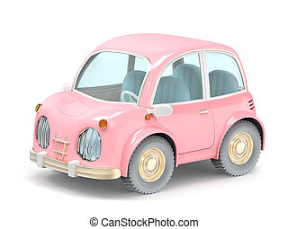 car small cartoon pink
