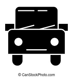 Car solid icon. Automobile vector illustration isolated on white. Square auto glyph style design, designed for web and app. Eps 10.