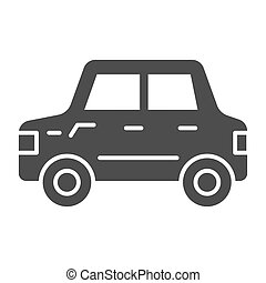 Car solid icon. Automobile vector illustration isolated on white. Transport glyph style design, designed for web and app. Eps 10.