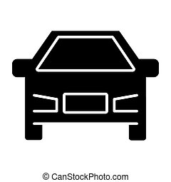Car solid icon. Vehicle illustration isolated on white. Transport glyph style design, designed for web and app. Eps 10.