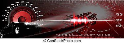Car sound systems banner - Car sound banner - banner Car and...