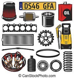 Car spare parts, engine details and motor oil - Car and auto...