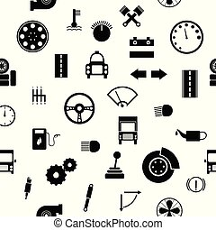 Car spare parts seamless pattern background icon.