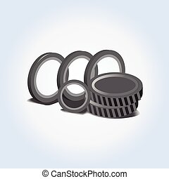 Car spare parts vector icon or illustration