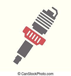 Car spark plug icon on white background for graphic and web design, Modern simple vector sign. Internet concept. Trendy symbol for website design web button or mobile app.