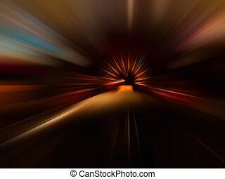 car speed motion on night road