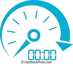 Car speed vector icon
