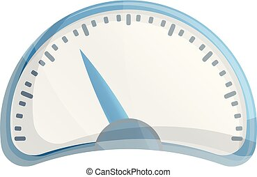 Car speedometer icon, cartoon style