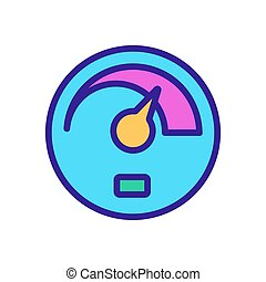 car speedometer icon vector outline illustration