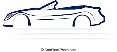 Car sporting logo