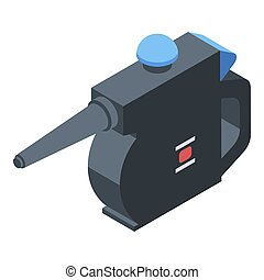 Car steam cleaner icon, isometric style