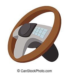Car steering wheel cartoon illustration