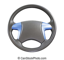 steering  - car steering wheel isolated on white background.