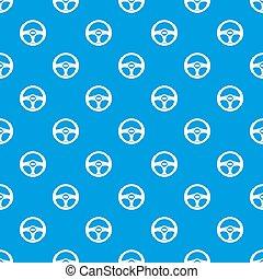 Car steering wheel pattern seamless blue