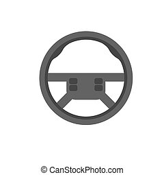 Car steering wheel vector icon. Car steering leather...