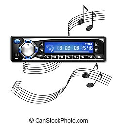car stereo background