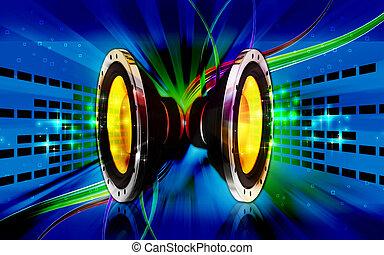 Car stereo - Digital illustration of car stereo in colour...