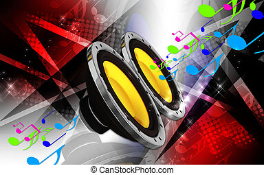 Car stereo - Digital illustration of car stereo in colour...