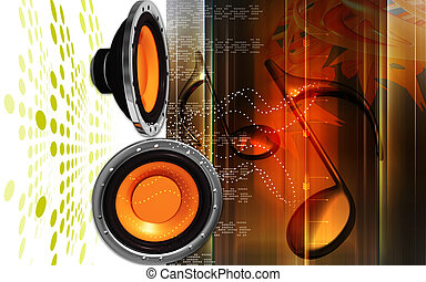 Car stereo - Digital illustration of car stereo in colour ...