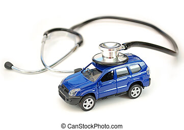 Car stethoscope - Stethoscope ontop of a toy car