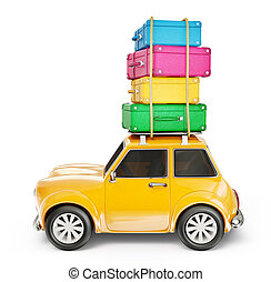 car - small car isolated on a white background