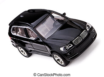 Car - Model black modern car on white background.
