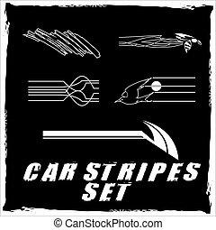 Car stripe design set to print and cut on vinyl