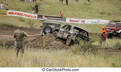Car suffered in the race