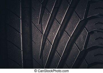 Car Summer Tire Rain Tread. Automotive Element.