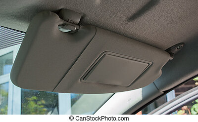 Car Sun Visor - Car sun visor in the down position